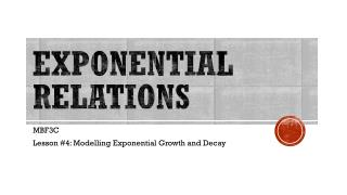 EXPONENTIAL RELATIONS