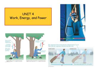 UNIT  4 Work, Energy, and Power