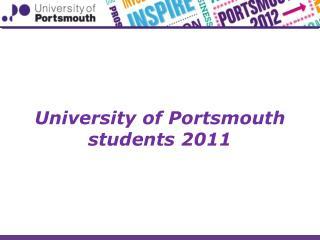 University of Portsmouth students 2011