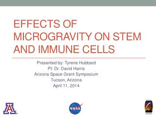 Effects of Microgravity on Stem and immune Cells