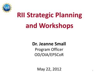 RII Strategic Planning and Workshops