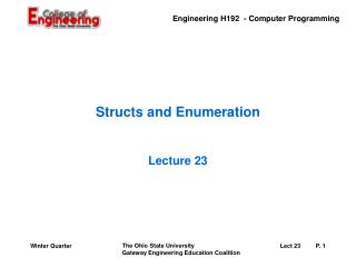 Structs and Enumeration