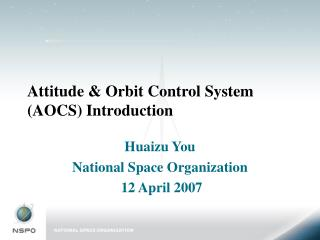 Attitude & Orbit Control System (AOCS) Introduction