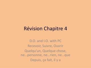Révision Chapitre 4