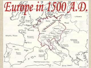 Europe in 1500 A.D.