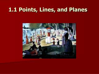 1.1 Points, Lines, and Planes