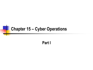 Chapter 15 – Cyber Operations