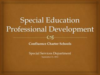 Special Education Professional Development