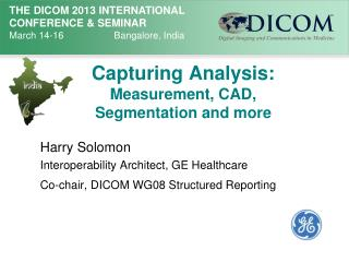 Capturing Analysis:  Measurement, CAD, Segmentation and more