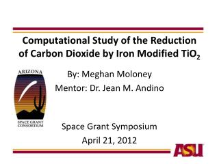 Computational Study of the Reduction of Carbon Dioxide by Iron Modified TiO 2