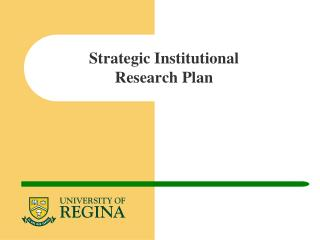 Strategic Institutional Research Plan