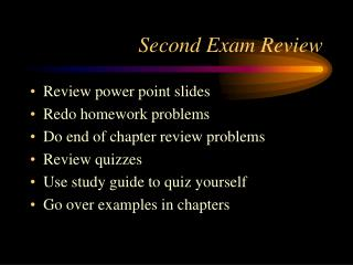 Second Exam Review
