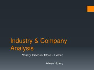 Industry & Company Analysis