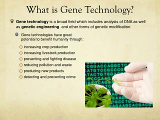 What is Gene Technology?