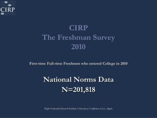CIRP The Freshman Survey 2010
