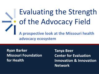Evaluating the Strength of the Advocacy Field