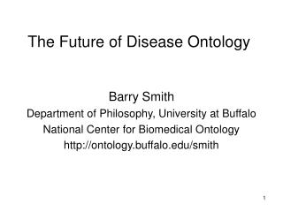 The Future of Disease Ontology