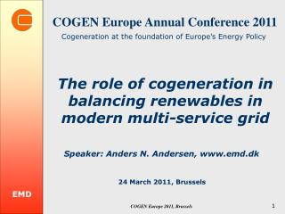 COGEN Europe  Annual Conference  2011