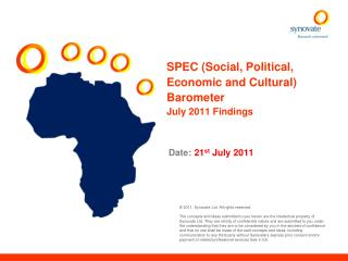 SPEC (Social, Political,              Economic and Cultural) Barometer July 2011 Findings