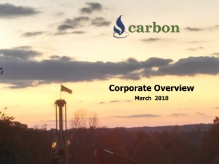 Corporate Overview March 2018
