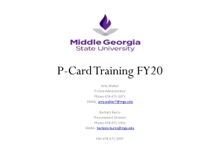 P-Card Training FY20
