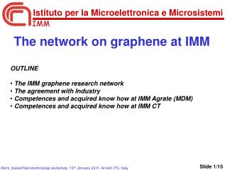 The network on graphene at IMM