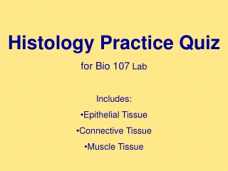 Epithelial Tissue Practice Quiz 8 slides