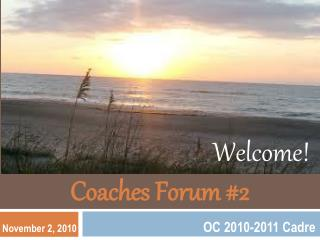 Coaches Forum #2