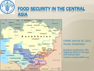 Food Security in the Central Asia