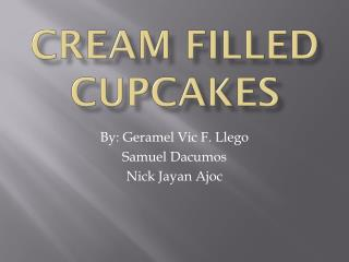 Cream Filled Cupcakes