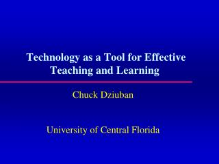 Technology as a Tool for Effective Teaching and Learning