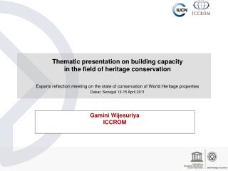 Thematic presentation on building capacity  in the field of heritage conservation   Experts reflection meeting on the st