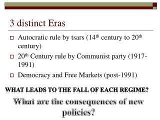 3 distinct Eras