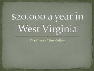 $20,000 a year in West Virginia