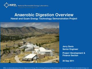 Anaerobic Digestion Overview Hawaii and Guam Energy Technology Demonstration Project