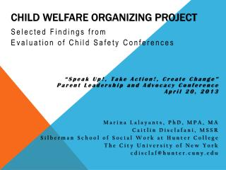 Child Welfare Organizing Project