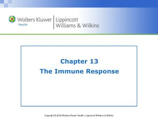 Chapter 13 The Immune Response