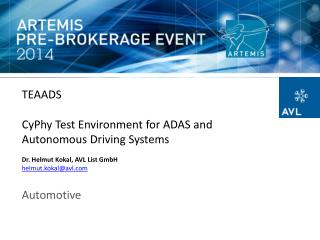 TEAADS CyPhy Test Environment for ADAS and Autonomous Driving  Systems