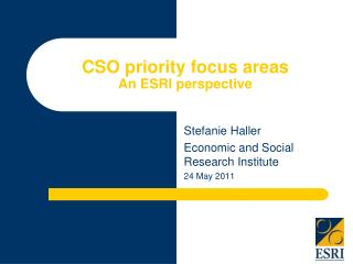 CSO priority focus areas  An ESRI perspective