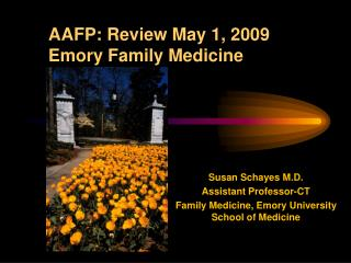 AAFP: Review May 1, 2009               Emory Family Medicine