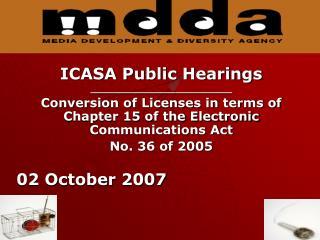 ICASA Public Hearings _________________________