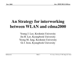 An Strategy for interworking between WLAN and cdma2000
