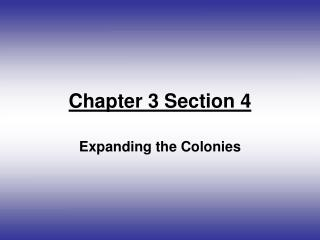Chapter 3 Section 4