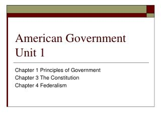 American Government Unit 1
