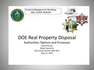 DOE Real Property Disposal - Outline