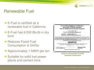 Renewable Fuel