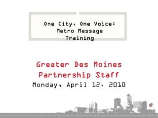 Greater Des Moines Partnership Staff