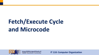 Fetch/Execute Cycle and Microcode
