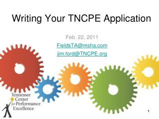 Writing Your TNCPE Application