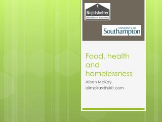Food, health and homelessness